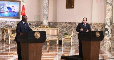 الرئيس السيسي: ناقشت مع رئيس غينيا بيساو ملف سد النهضة وموقفنا ثابت بالتوصل لاتفاق ملزم
