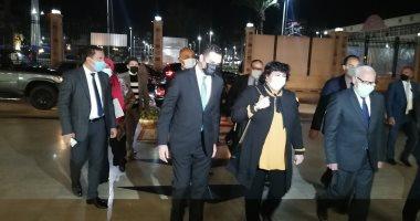 """وزيرة الثقافة تصل بورسعيد استعدادا لبدء فعاليات """"بورسعيد عاصمة الثقافة المصرية"""".. فيديو"""