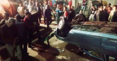 انتشال 7 جثث لضحايا حادث سقوط سيارة بنهر النيل فى أسيوط.. صور