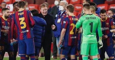 كومان بعد فوز برشلونة على إشبيلية وتأهله لنهائى كأس الملك: فخور بفريقى