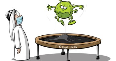 السعودية نيوز |                                              فيروس كورونا يحير الجميع بين ارتفاع معدل الإصابات وانخفاضها فى كاريكاتير