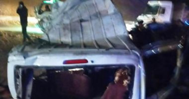 صورة ننشر نتيجة التقرير الطبى لضحايا حادث طريق المناشى فى الجيزة
