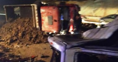 صورة أسماء الضحايا والمصابين فى حادث تصادم بالصحراوى الشرقى فى بنى سويف