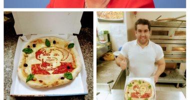 """""""محمد"""" شيف مصرى بألمانيا يشارك """"صحافة المواطن"""" بصور رسوماته لميركل على البيتزا"""