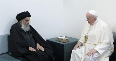 البابا فرنسيس يلتقي المرجع العراقي السيستاني في النجف
