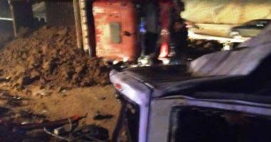 حادث الكريمات ..ارتفاع عدد الوفيات بحادث الطريق الصحراوى الشرقى إلى 20 شخصا