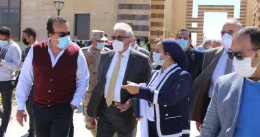 وزير التعليم العالى يتابع استعدادات جامعة الملك سلمان الدولية لتشغيل المقر الرئيسى