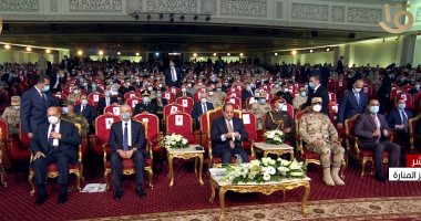 """الرئيس السيسى يشاهد فيلما تسجيليا بعنوان """"حلم الشهيد"""" عن تضحيات شهداء الوطن"""