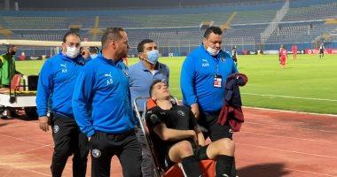 نقل محمود وادي للمستشفى بعد الإصابة أمام نكانا واشتباه في كسر بالضلوع