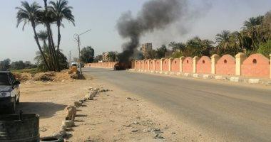 السيطرة على حريق سيارة على طريق ترعة نجع حمادى بمركز سوهاج دون إصابات