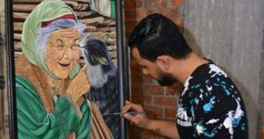 """""""أنطون"""" نمى موهبته في الرسم وقدم لوحاته باسم مصر فى المعارض الخارجية"""