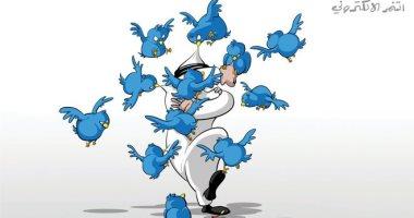 السعودية نيوز |                                              ظاهرة التنمر الإلكترونى على السوشيال ميديا فى كاريكاتير اليوم