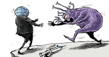 السعودية نيوز |                                              فيروس كورونا يسعى للتغلب على اللقاحات فى كاريكاتير اليوم