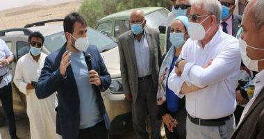 محافظ جنوب سيناء يتفقد محطة تموين السيارات بالهضبة