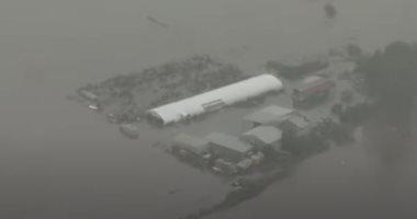 لقطات جوية للمياه تغرق المنازل وتجتاح أستراليا فى أعنف فيضانات منذ نصف قرن