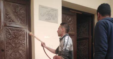 مبادرة شبابية بقرية فى كفر الشيخ لتطهير الشوارع ضد كورونا وتوفير شنط رمضان