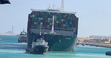 آخر التطورات بقناة السويس.. السفينة الجانحة ترسى ببحيرات الإسماعيلية.. فيديو