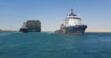 قناة السويس تنجح فى سحب سفينة بترول تعطلت بالمجرى الملاحى إلى البحيرات