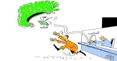 كاريكاتير صحيفة عمانية.. كورونا شبح يلتهم الأموال