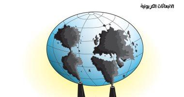 الانبعاثات الكربونية وتدمير العالم بكاريكاتير سعودى