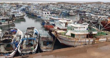 توقف حركة الملاحة بميناء البرلس وبمياه البحر المتوسط لشدة الرياح