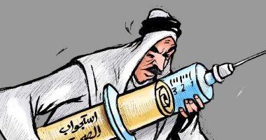 """كاريكاتير بصحيفة كويتية: استجواب"""" الصحة"""" بمجلس الأمة حول فيروس كورونا"""
