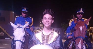 """""""محب"""" يشارك بصورة له خلال مشاركته في حفل نقل المومياوات الملكية"""