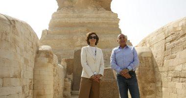مدير عام منظمة اليونسكو تزور القاهرة التاريخية ومنطقتى آثار سقارة والأهرامات