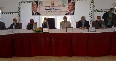 محافظ جنوب سيناء يكرم والدة الشهيد محمود ناجى خلال احتفالية يوم اليتيم