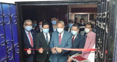 محافظ القليوبية والقائم بأعمال جامعة بنها يفتتحان أعمال تطوير المستشفى الجامعى