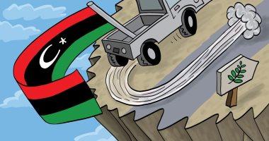 ليبيا تعود إلى الحضن العربى فى كاريكاتير إماراتى