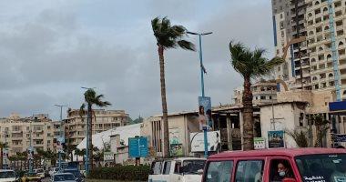 نشاط فى حركة الرياح وطقس غير مستقر بالإسكندرية.. فيديو وصور