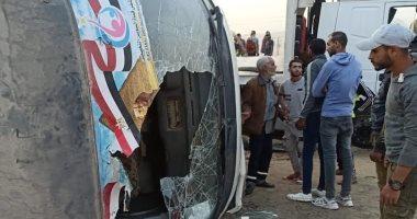 ارتفاع عدد المصابين فى حادث تصادم على طريق السويس –العين السخنة لـ22 مصابا