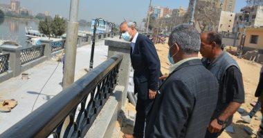 محافظ القليوبية يتابع تطوير كورنيش النيل ويوجه باستكمال أعمال الرصف بالشوارع