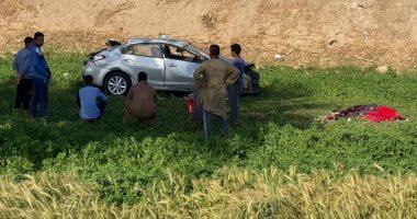 """مصرع شاب وإصابة 4 آخرين فى تصادم """"ملاكى وكارو"""" على طريق جرجا بسوهاج"""