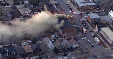 حريق هائل بكنيسة فى ولاية كولورادو الأمريكية.. فيديو وصور