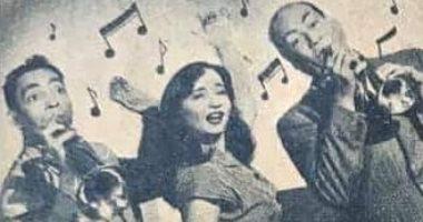 """شادية فى صور نادرة مع إسماعيل ياسين وحسن فايق من كواليس """"حظك هذا الأسبوع"""" 1953"""