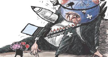 السعودية نيوز |                                              لكمات فيروس كورونا تنهك العالم فى كاريكاتير سعودى