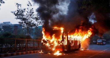 مصرع 5 أشخاص وإصابة 12 آخرين فى حريق حافلة سياحية شمال شرق تايلاند