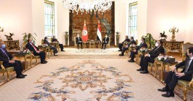 قيس سعيد: تناولت مع الرئيس السيسي قضايا تتعلق بالوعى والتصدى للمخاطر