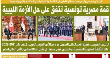 اليوم السابع.. قمة مصرية تونسية تتفق على حل الأزمة الليبية