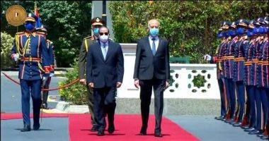 مراسم استقبال رسمية للرئيس التونسى بقصر الاتحادية