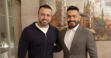 تامر حسنى عن تعاونه مع مصطفى حسنى: أخدمك بعينيا وأنا وصوتى تحت أمرك
