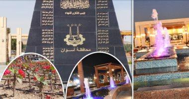 15 صورة ترصد أعمال التطوير بواجهة مدينة أسوان السياحية