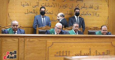 صورة حجز النطق بالحكم على المتهمين فى أحداث عنف سمالوط لشهر يوليو المقبل