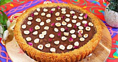حلويات رمضان.. طريقة عمل تارت الكنافة بالشيكولاتة بخطوات بسيطة