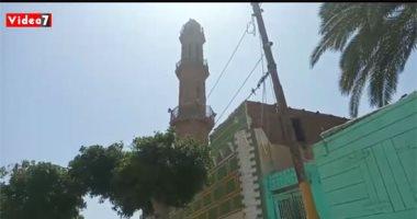 عمرها يتجاوز 1000 عام.. مئذنة مسجد العتيق بالمنيا طراز هندسى فريد.. فيديو