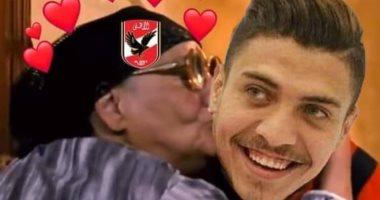 صالح جمعة يحتفل بهدفى محمد شريف فى الزمالك بصورة طريفة من فيلم وش إجرام