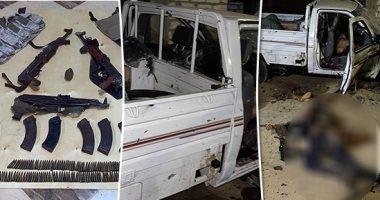 ننشر صور الأسلحة والحزام الناسف المضبوطة مع الإرهابيين المتورطين بقتل المواطن نبيل حبشى