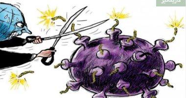 السعودية نيوز |                                              كاريكاتير صحيفة سعودية.. العالم يسيطر على فيروس كورونا